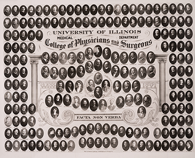 Graduating class photo from 1907
