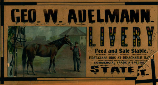 Gerald w adelmann papers lewis university george w adelmann livery advertisement malvernweather Images