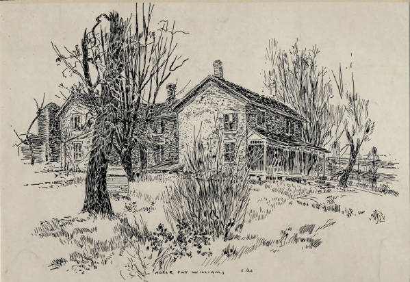 Stone Farm House 1926 by Adele Fay Williams