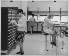 Students in Library ca. 1968-1979