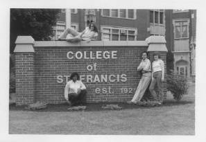 Students by CSF Sign ca. 1975-1989