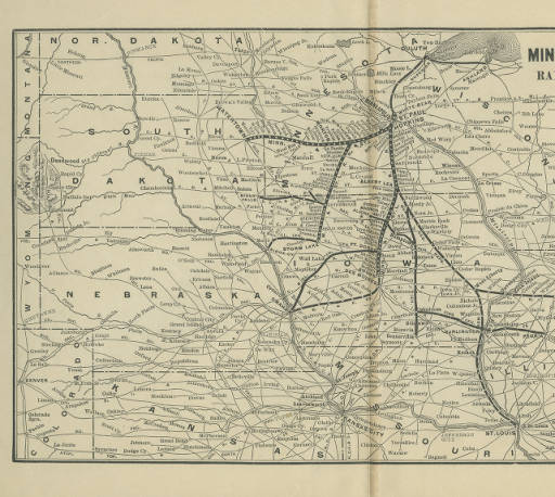 Map of the minneapolis st louis railroad connections map of the minneapolis st louis railroad connections railroads in the midwest early documents and images knox college malvernweather Images