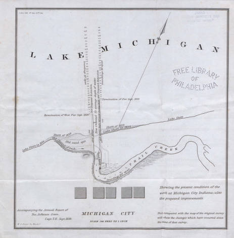 Lake Michigan, Michigan City (Ind.), 1839 :: Historic Maps, 1540 ...