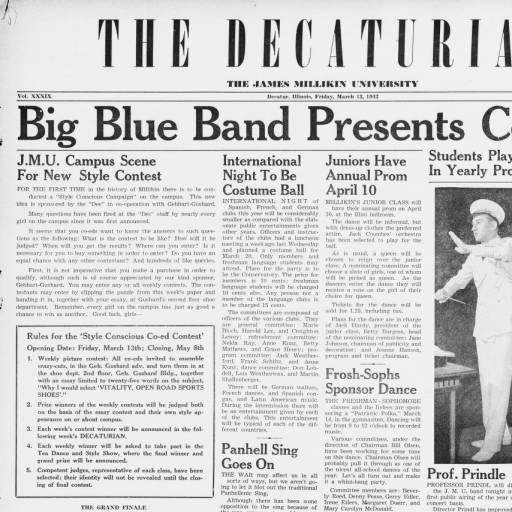 The Decaturian 1942 03 13 Decaturian Millikin University