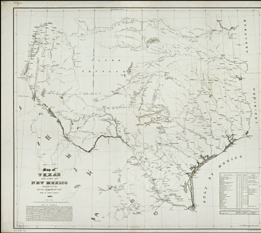 Map of Texas and part of New Mexico :: Everett D. Graff Collection ...