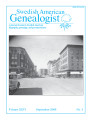 Swedish American Genealogist Vol. 26, No. 3
