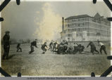 'First football game at S.P.C.'