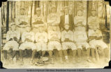'S.P.C. Baseball team, 1921 / Played 14 games, lost none'