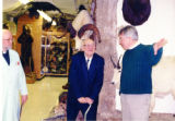 Professor John Mickus and Brother Theodore D. Suchy O.S.B give Brother Edmund Jurica O.S.B a tour...
