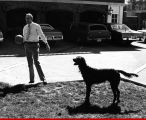 Jim Thompson with dog