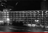 Parking deck at night