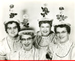 Big Four Quartette in flowery hats