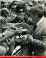 Bobby Kennedy shaking hands