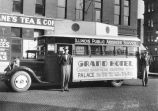 """Grand Hotel"" advertising bus"