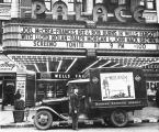 Railroad Express Agency Truck outside the Palace Theatre.