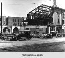 Tearing down of Rouse's Hall in Peoria, Illinois.