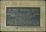 Plaque on Flanagan House in Peoria, Illinois.