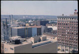 Airview of downtown Peoria, Illinois.