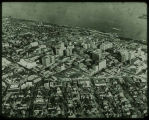 Airview of city of Peoria, Illinois in 1946.