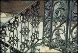 Detail of wrought iron railing and columns