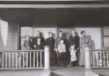 Group portrait on porch