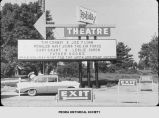 Holiday Drive-In Theatre in Peoria, Illinois.