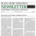 Black Music Research Newsletter 1977 to 1987 (Columbia College Chicago)
