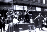 Old School Band on stage at Maxwell Street