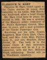 Clarence Hart Death Notice, 1941-02-16