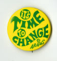 Ricci Button - Time to Change, Yellow