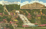 Waterfalls and rock garden in Olson Park surrounding Olson Rug Factory, Diversey at Pulaski...
