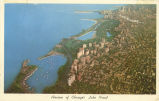 Airview of Chicago's lake front