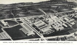 Aerial view of main plant and home offices, Abbott Laboratories, North Chicago, Ill.