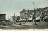 North side square looking west from Seventh Street, Charleston, Ill.