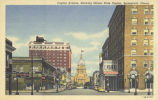 Capitol Avenue, showing Illinois State Capitol, Springfield, Illinois