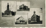Assumption, Ill.: St. Mary's Church, parsonage, convent, school