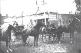 1910 winners of the trotter class of the CentraI Illinois Horse Fair which was held in the downtown area