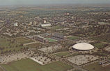 Aerial view of the campus, University of Illinois, Champaign-Urbana, Illinois