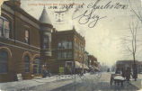 Looking east, north side square, Charleston, Ill.