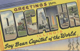 Greetings from Decatur, Illinois, soy bean capital of the world
