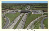 Aerial view and oasis on Illinois Tollway