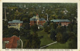Aeroplane view, Illinois State Normal University campus and buildings, Normal, Ill.