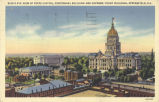Bird's-eye view of State Capitol, Centennial Building and Supreme Court building, Springfield, Ill.