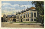 Public library and post office, Galesburg, Ill.