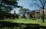 Campus scene looking south toward Old Main, Elmhurst College, Elmhurst, Ill., established 1871