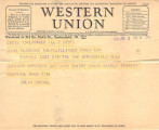 1928-07-02 Western Union telegram re MTB appendix surgery