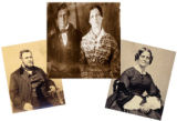 Collage of three images showing David and Sarah Davis. Photo credits: David and Sarah Davis (ca. 1840)