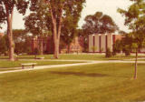 The Quad, Sheean Library, and Stevenson Hall