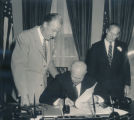 Congressman Leslie C. Arends and President Dwight D. Eisenhower