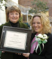 School of Nursing Director Hartweg and Distinguished Alumna Heideman